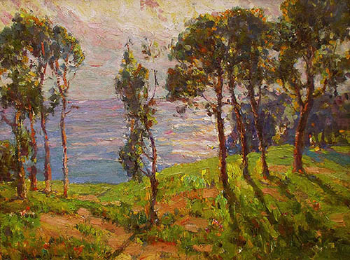 William A. Karges Fine Art - Benjamin Chambers Brown, Monterey Pines