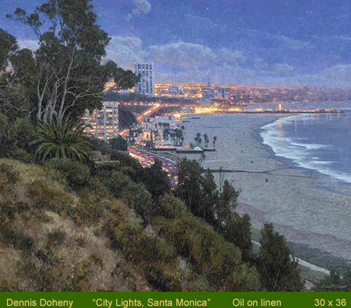 William A. Karges Fine Art Presents City Lights by Dennis Doheny