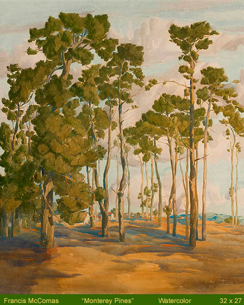 Francis McComas - Monterey Pines, Presented by William A. Karges Fine Art